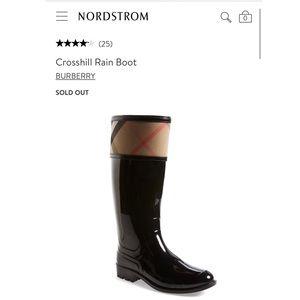 BURBERRY Crosshill trim rain boots